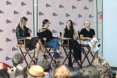 "Don't be f**king sorry!"" said Jess Teves (first, left), Editor-in-Chief at Stylcaster to all of the women who apologize unnecessarily out of habit. She's accompanied by Stephanie Mark (co-founder, The Coveteur), Daniella Kallmeyer (Designer, Kallmeyer NY), and Melissa Battifarano (Design Director, Rihanna's font Corp)."